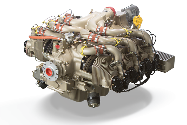 Continental 360 AvGas Engine Series: Top View