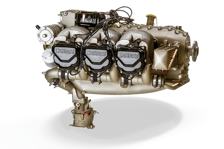 Continental 470 AvGas Engine Series: Side View